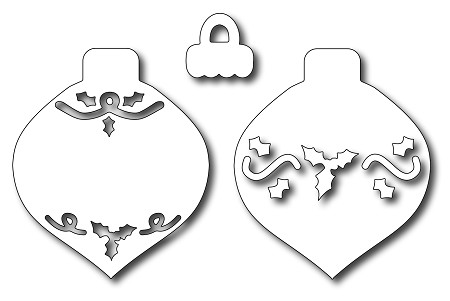 Frantic Stamper - Precision Dies - Mix 'N Match - Christmas Ornaments (set of 3)