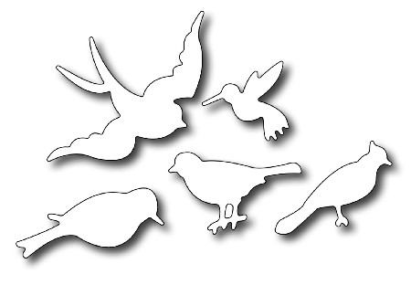 Frantic Stamper - Precision Dies - Small Birds (set of 5)