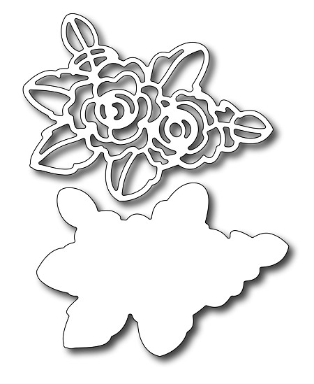 Frantic Stamper - Precision Dies - Stencil Rose (set of 2 dies)
