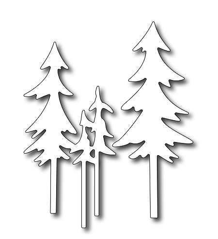 Frantic Stamper - Precision Dies - Tall Pine Trees (set of 2 dies)