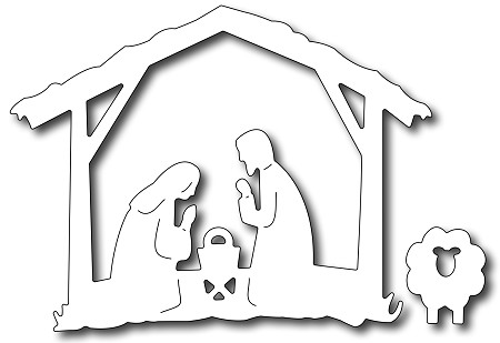 Frantic Stamper - Precision Dies - Nativity Creche and Sheep (set of 2 dies)