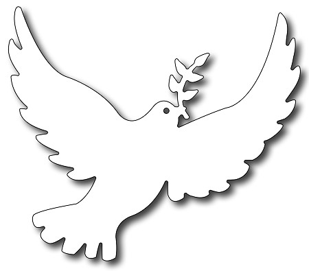 Frantic Stamper - Precision Dies - Large Peace Dove