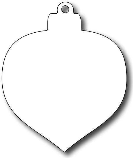 Stamper Precision Die - Teardrop Christmas Bauble background