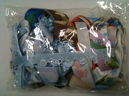 Frantic Stamper - Ribbon Grab Bag Assortment (approx 12 to 14 yards total) - Baby boy