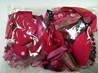 Frantic Stamper - Ribbon Grab Bag Assortment (approx 12 to 14 yards total) - Raspberry