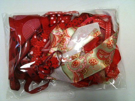 Frantic Stamper - Ribbon Grab Bag Assortment (approx 12 to 14 yards total) - Strawberry Love