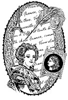 Frantic Stamper Cling-Mounted Rubber Stamp - Oval Letter Collage