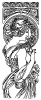 Frantic Stamper Cling-Mounted Rubber Stamp - Lg Mucha Bookmark