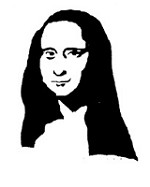 Frantic Stamper Cling-Mounted Rubber Stamp - Lg Mona Lisa