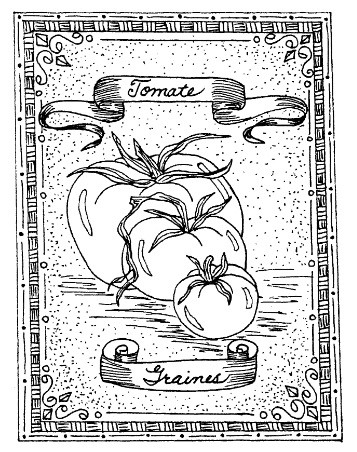 Frantic Stamper Cling-Mounted Rubber Stamp - Tomato Seeds