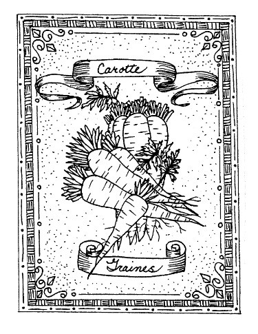 Frantic Stamper Cling-Mounted Rubber Stamp - Carrot Seeds