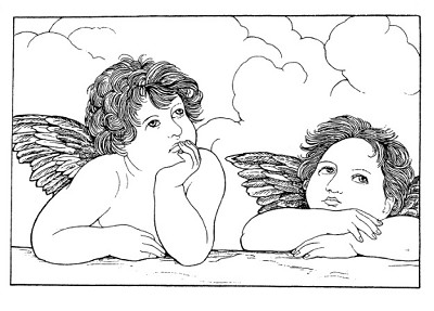 Frantic Stamper Cling-Mounted Rubber Stamp - Large Angels
