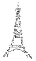 Frantic Stamper Cling-Mounted Rubber Stamp - Paris Tower