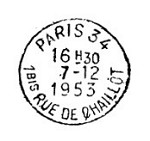 Frantic Stamper Cling-Mounted Rubber Stamp - Rue de Chaillot Postmark