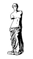Frantic Stamper Cling-Mounted Rubber Stamp - Sm Venus Statue