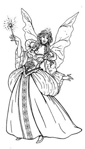 Frantic Stamper Cling Mounted Rubber Stamp Fairy Godmother