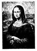 Frantic Stamper Cling-Mounted Rubber Stamp - Mona Lisa