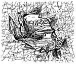 Frantic Stamper Cling-Mounted Rubber Stamp - Ship Collage