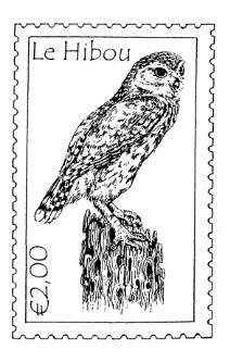 Frantic Stamper Cling-Mounted Rubber Stamp - Owl Postoid