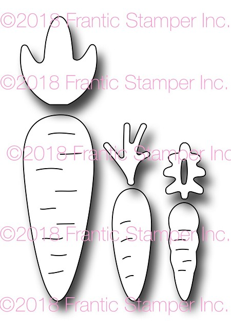 Frantic Stamper Precision Die - Carrot Set