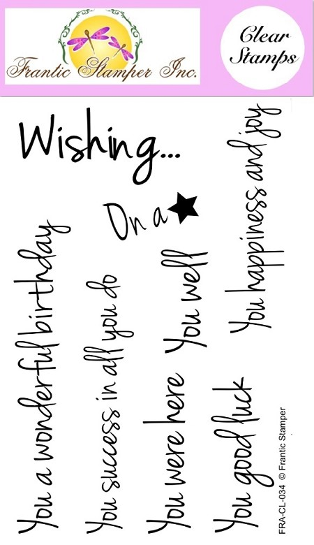 Frantic Stamper Clear Stamp Set - Wishing