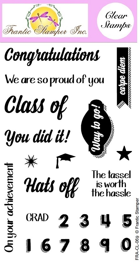 Frantic Stamper Clear Stamp Set - You Did It!