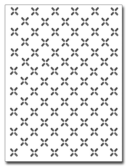 Frantic Stamper Precision Die - Diamond Plate Card Panel
