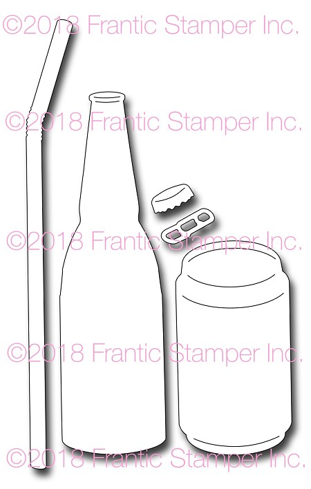 Frantic Stamper Precision Die - Soda or Beer Bottle And Can