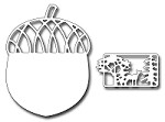 **PRE-ORDER** Frantic Stamper Precision Die - One Large Acorn and Forest Scene