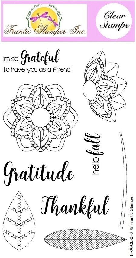 Frantic Stamper Clear Stamp Set - Grateful Florals