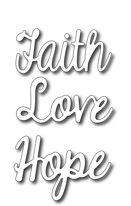 Frantic Stamper Precision Die - Faith Words #4