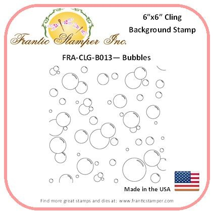 Frantic Stamper - 6x6 Background Rubber Stamp - Bubbles