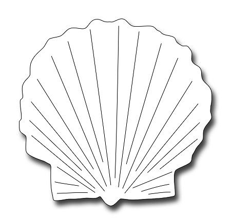 Frantic Stamper Precision Die - Scallop Shell