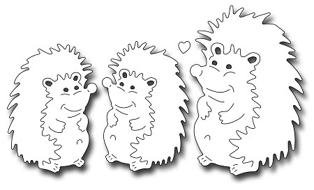 Frantic Stamper Precision Die - Mom And Baby Hedgehogs