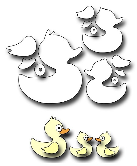 Frantic Stamper Precision Die - Mom And Baby Ducks