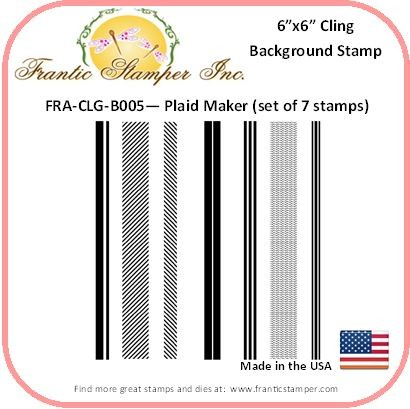 Frantic Stamper - 6x6 Background Rubber Stamp - Plaid Maker