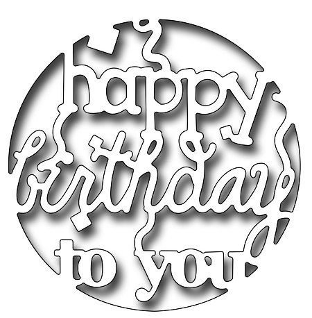 Frantic Stamper Precision Die - Reverse Cut Happy Birthday To You Circle