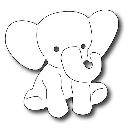 Frantic Stamper Precision Die Baby Elephant