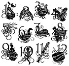Graphic 45/Hampton Arts - 12 Days of Christmas Collection - Cling Stamp 2