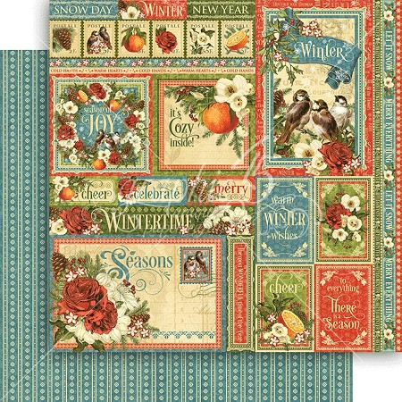 "Graphic 45 - Seasons Collection - 12""x12"" cardstock - Winter Collective"