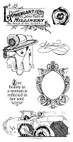 Graphic 45 - Hampton Art - A Ladies' Diary Collection - Cling Stamp - A Ladie's Diary 3