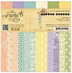 "Graphic 45 - Secret Garden Collection - 6""x6"" Paper Pad - Patterns & Solids"
