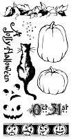 Graphic 45 - Hampton Art - Happy Haunting Collection - Cling Stamp - Happy Haunting 2