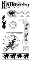 Graphic 45 - Hampton Art - Happy Haunting Collection - Cling Stamp - Happy Haunting 3