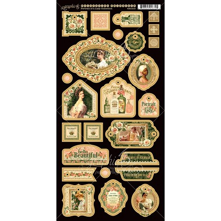 Graphic 45 - Portrait of a Lady Collection - Decorative Chipboard