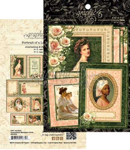Graphic 45 - Portrait of a Lady Collection - Ephemera Cards