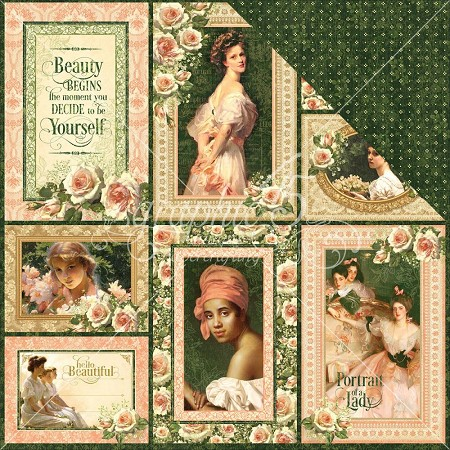 "Graphic 45 - Portrait of a Lady Collection - 12""x12"" cardstock - Maria"