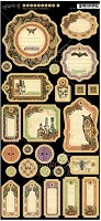 *PRE-ORDER* Graphic 45 - Rare Oddities Collection - Journaling Chipboard