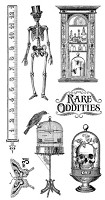 *PRE-ORDER* Graphic 45 - Rare Oddities Collection - Cling Stamps 1