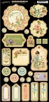 Graphic 45 - Secret Garden Collection - Chipboard Die Cuts 1